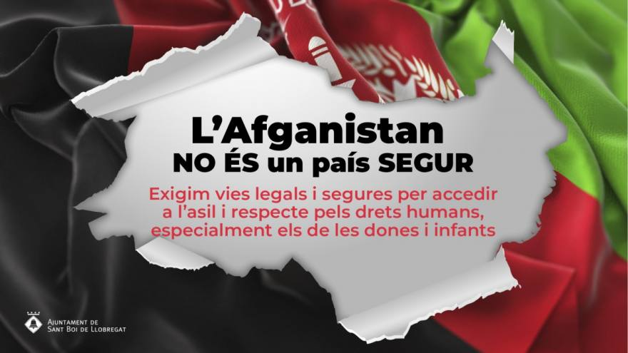 Pronunciament Sant Boi davant situació a l'Afganistan
